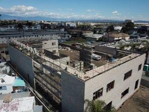 masonry construction site