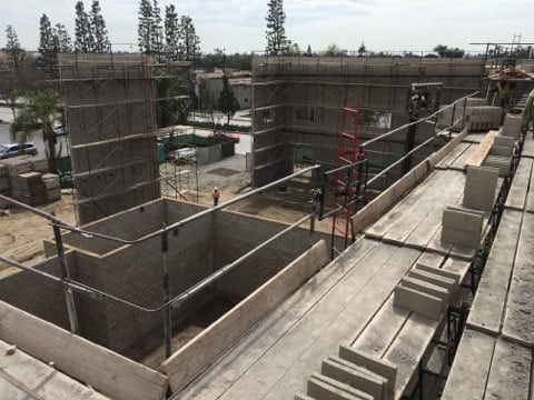 new construction site in Downy California