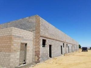 Masonry exterior wall