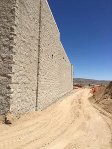 Exterior masonry wall in southern california