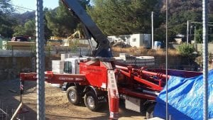Concrete plumbing project in California